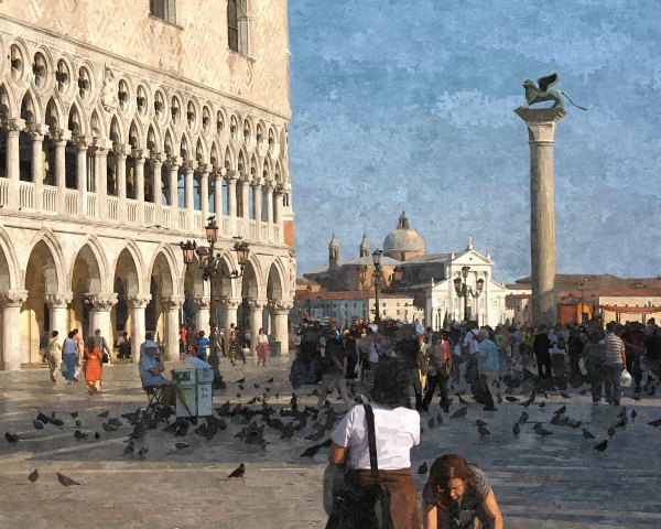 Digital Oil Painting of the Piazzetta San Marco)